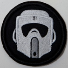 "Biker Scout (TB) helmet patch, 3"""